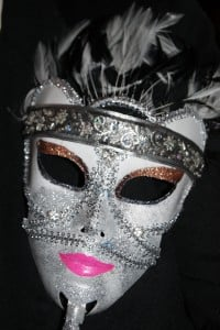 The masque Mrs. Scales made for New Year's Eve